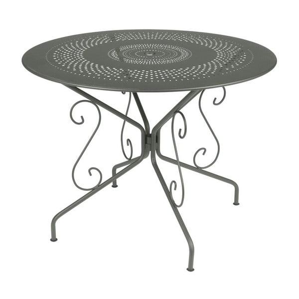 Szary stół metalowy Fermob Montmartre, Ø 96 cm