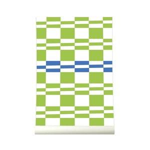 Tapeta Squarestripe Greenblue