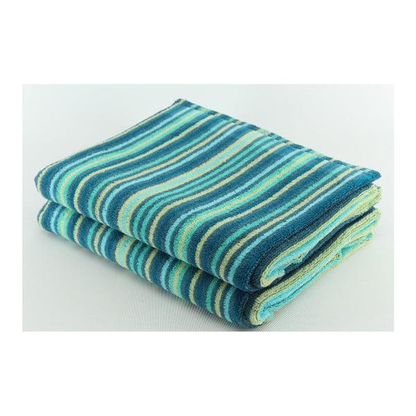 Zestaw 2 ręczników Collette Petrol, 70x140 cm