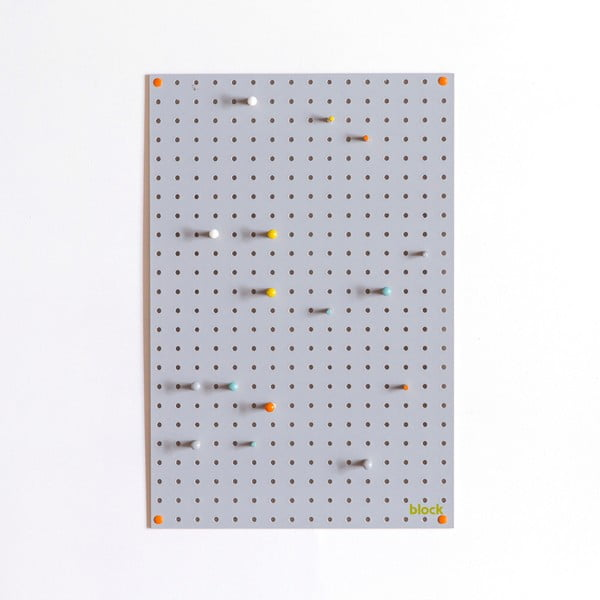 Wielofunkcyjna tablica Pegboard 40x61 cm, szara