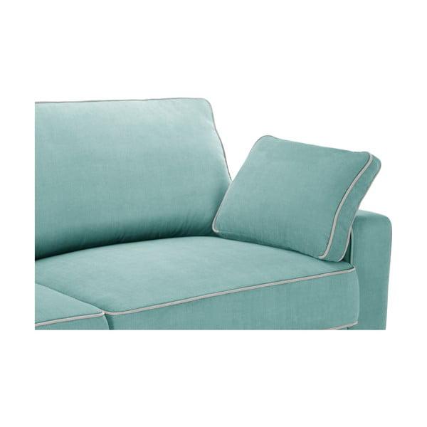 Sofa trzyosobowa Jalouse Maison Serena, miętowa