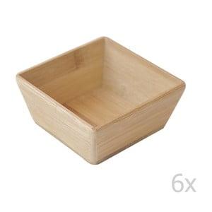 Zestaw 6 bambusowych misek Lungo