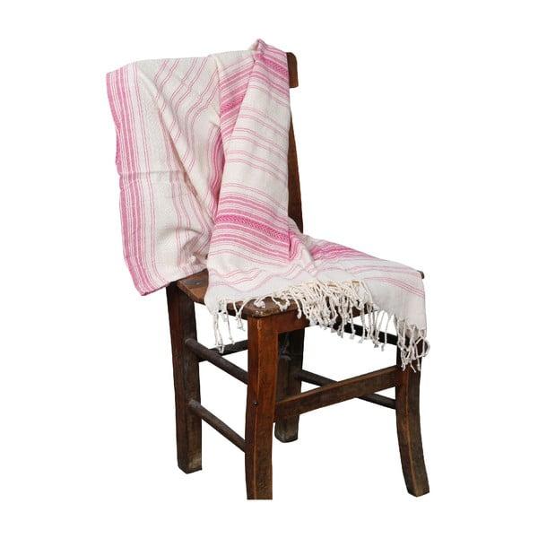 Różowy ręcznik hammam Artemis Pink, 90x190cm