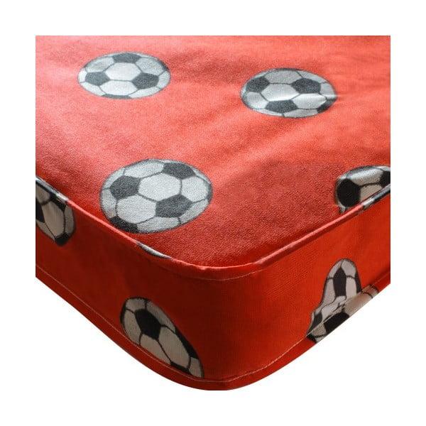 Materac dziecięcy Football Single Red, 190x90x15 cm