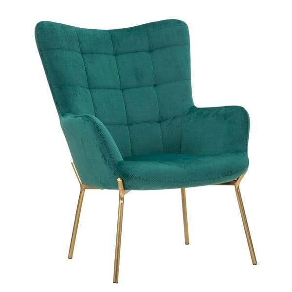 Szmaragdowy fotel z żelaznymi nogami w złotym kolorze Mauro Ferretti Onnimus