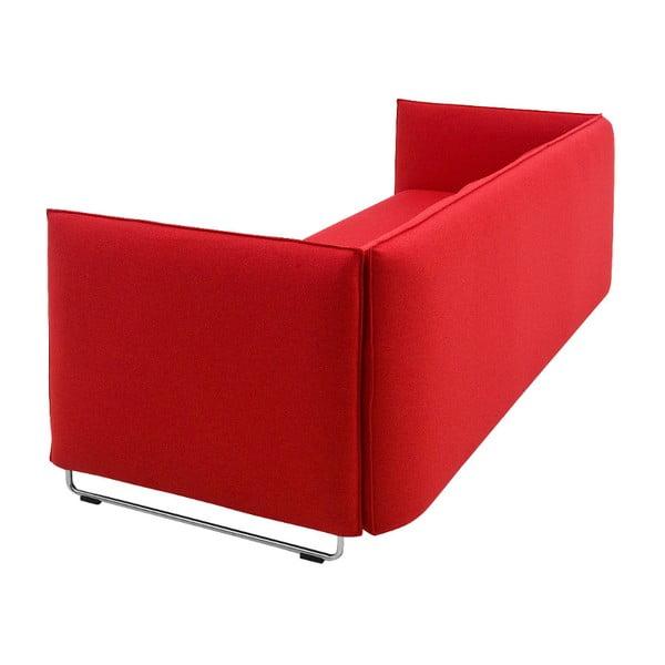 Czerwona sofa rozkładana Softline Metro