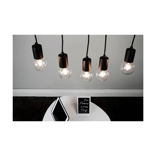 Czarna lampa wisząca z 5 kablami Bulb Attack Cero Basic