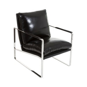 Czarny fotel Santiago Pons Kum