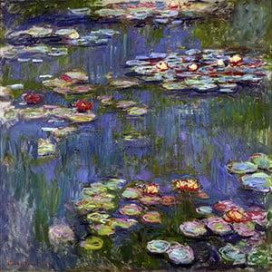 Reprodukcja obrazu Claude'a Moneta - Water Lilies 3, 70x70 cm