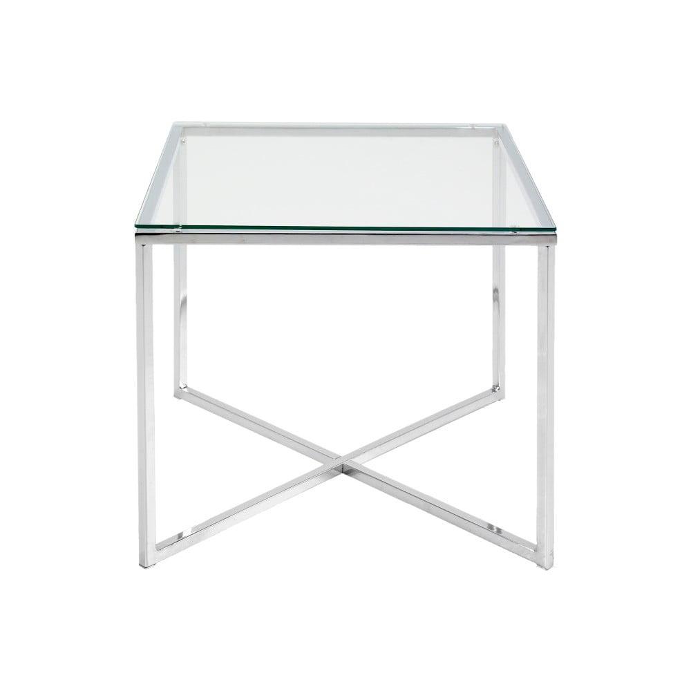 Biały stolik Actona Cross, 50x45 cm