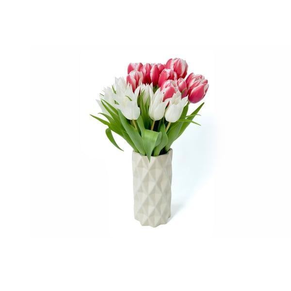 Biało-miętowy wazon Hawke&Thorn, wys. 22 cm