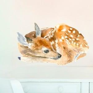 Naklejka wielokrotnego użytku Sleeping Deer, 40x24 cm