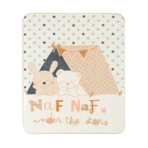 Dětská deka s béžovými detaily Naf Naf Under The Stars, 110x140cm