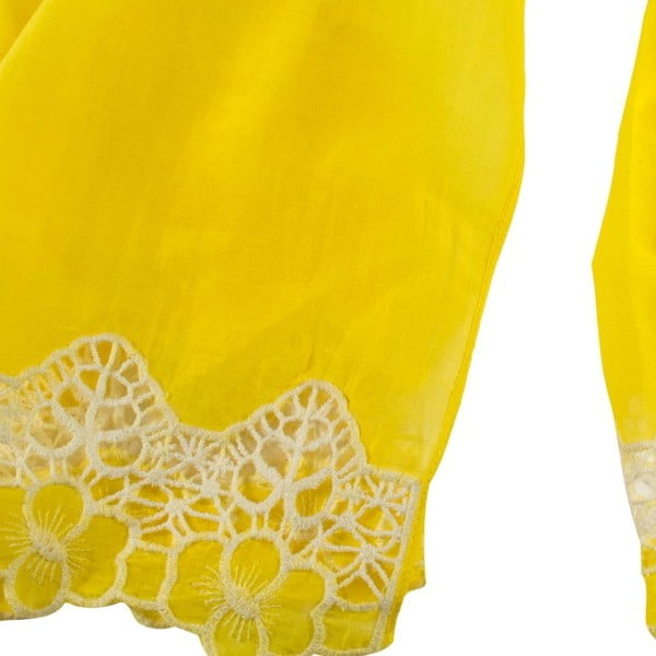 Chusta  z domieszką jedwabiu Shirin Sehan - Florentine Lemon