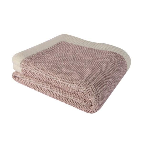 Różowy koc bawełniany Homemania Clen