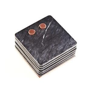 Marmurowe podkładki Marble Black