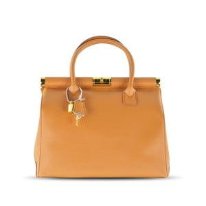 Skórzana torebka Carla, cognac