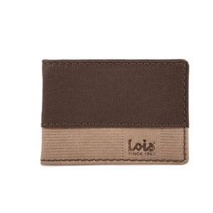 Skórzany portfel Lois Brown Block, 10x7 cm