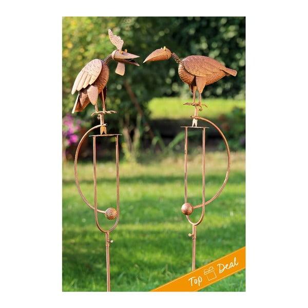 Zestaw 2 dekoracji ogrodowych Pendulum Birds