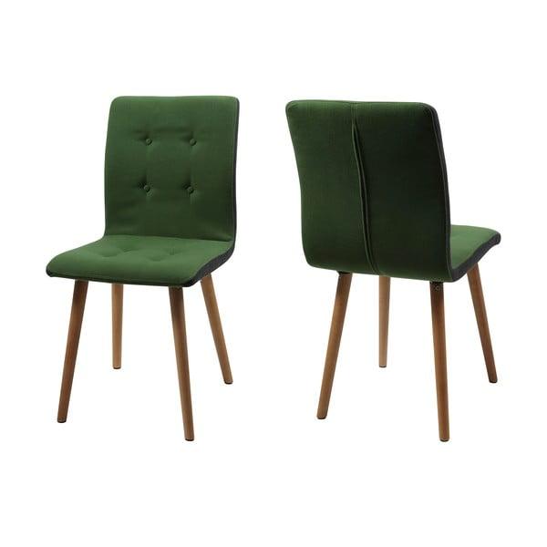 Krzesło do jadalni Frida, ziolone
