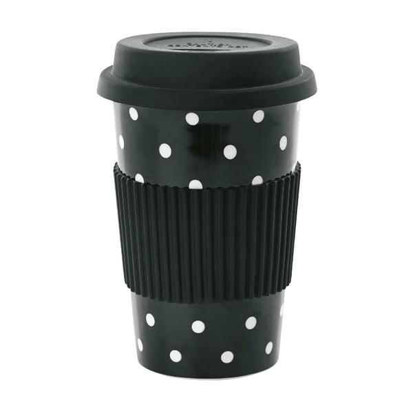 Ceramiczny kubek z przykrywką White Dots, 0,5 l