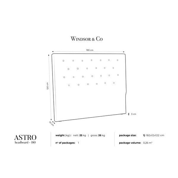 Fioletowy zagłówek łóżka Windsor & Co Sofas Astro, 180x120 cm