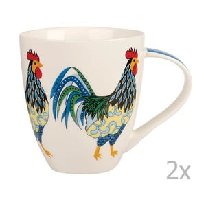 Zestaw 2 kubków Churchill China Rooster, 500 ml