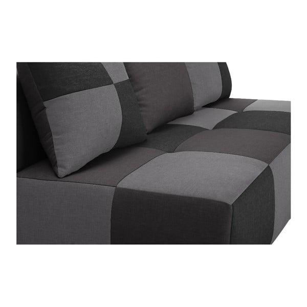 Szaro-grafitowa sofa rozkładana Dandy