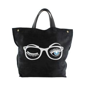 Skórzana torebka Wink, czarna