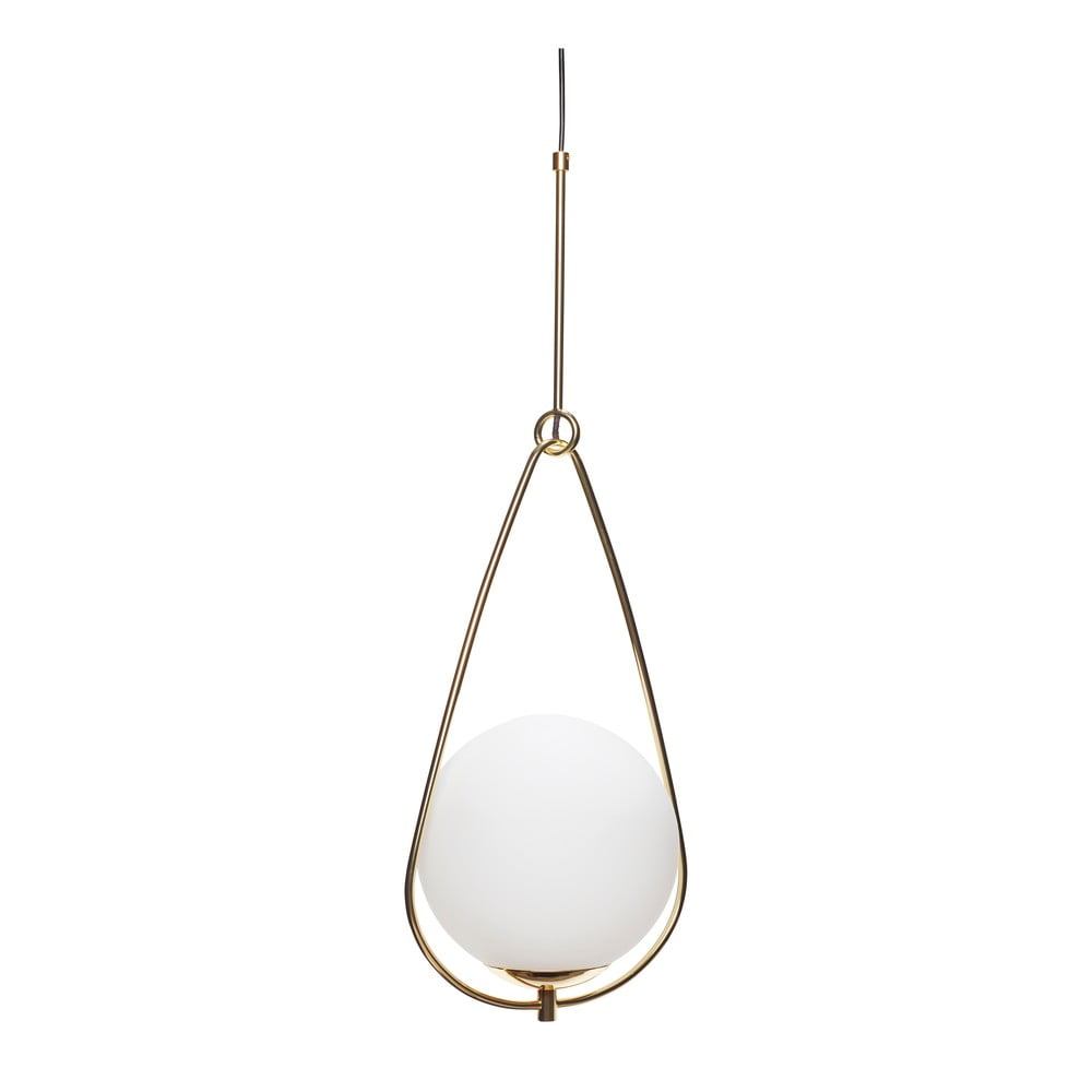 Biała lampa wisząca Hübsch Lumino