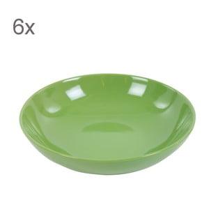 Zestaw 6 talerzy Kaleidoskop 21 cm, zielony