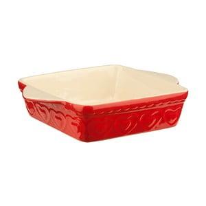 Czerwone naczynie do zapiekania Premier Housewares Sweet Heart, 22x31 cm