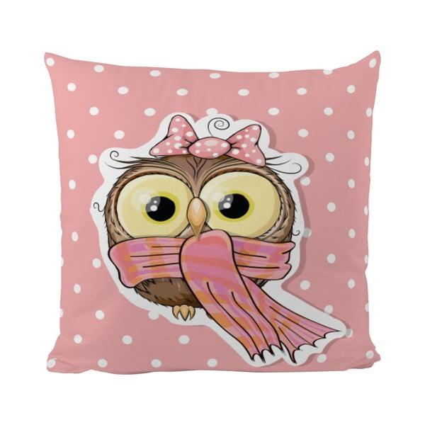 Poduszka   Pink Owl, 50x50 cm