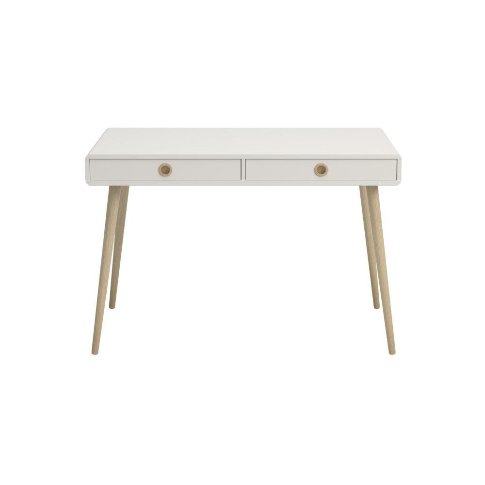Białe biurko Steens Soft Line, szer. 114,1 cm