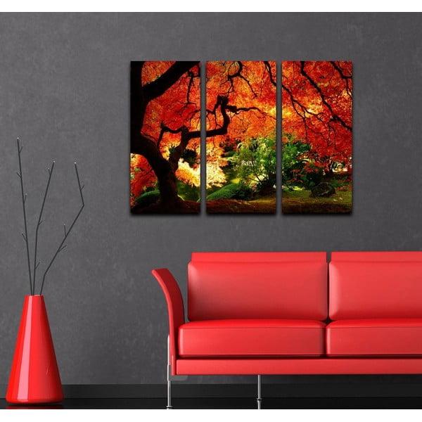 Trzyczęściowy obraz Jesień
