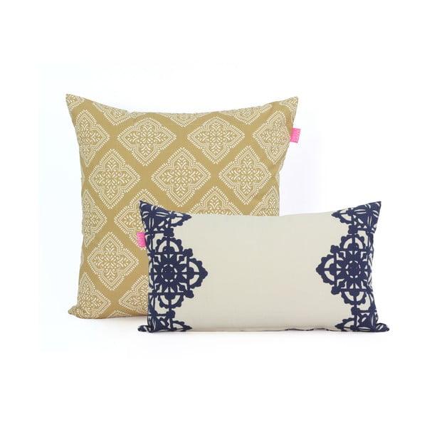 Zestaw 2 poszewek na poduszki Happy Friday Embroidery