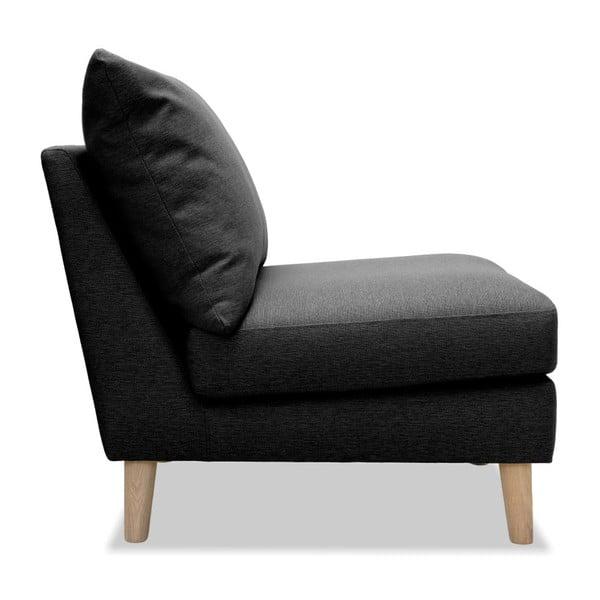 Antracytowy fotel Vivonita Liam