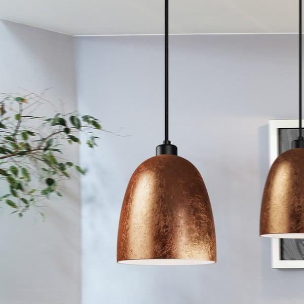 Czarno-złota lampa wisząca Sotto Luce AWA