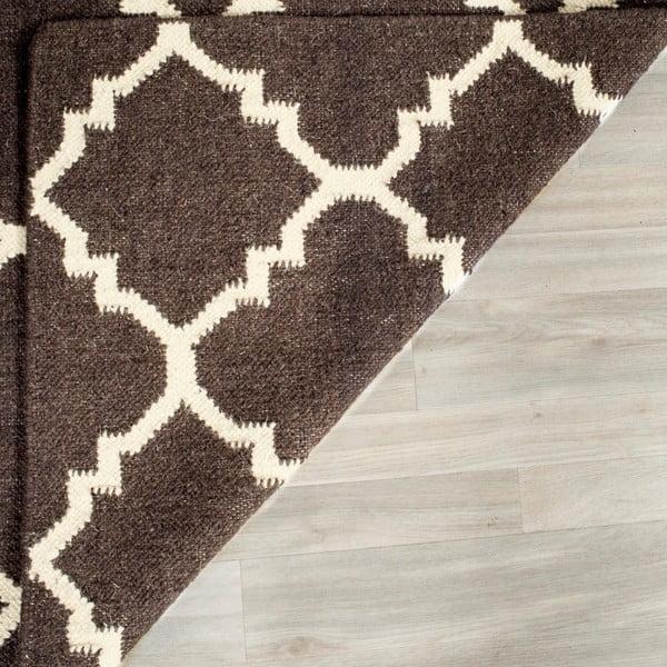 Dywan wełniany Darien 182x274 cm, brązowy