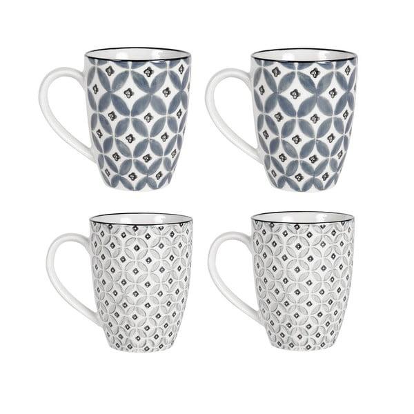 Zestaw 4 porcelanowych kubków Old Floor Cups Ceramic