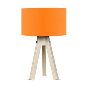 Lampa stołowa z pomarańczowym abażurem Kate Louise Naturel