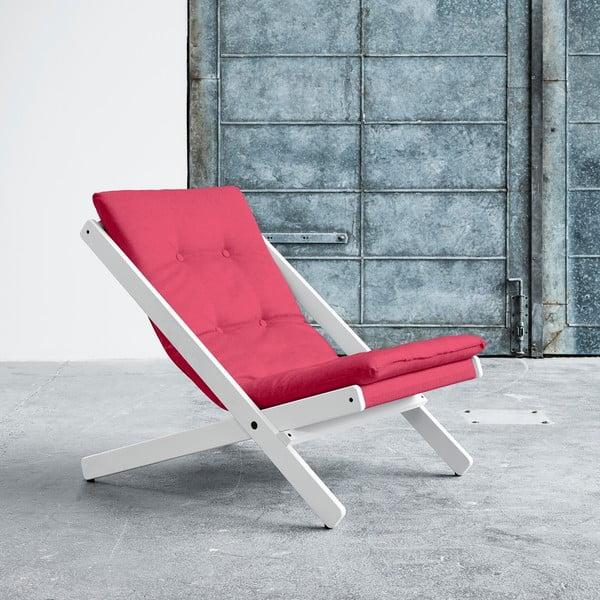 Fotel składany Karup Boogie White/Magenta
