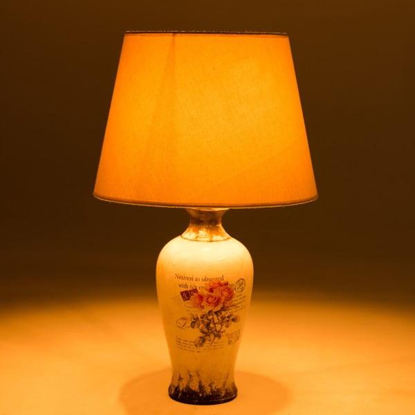 Ceramiczna lampa stołowa Pink Roses