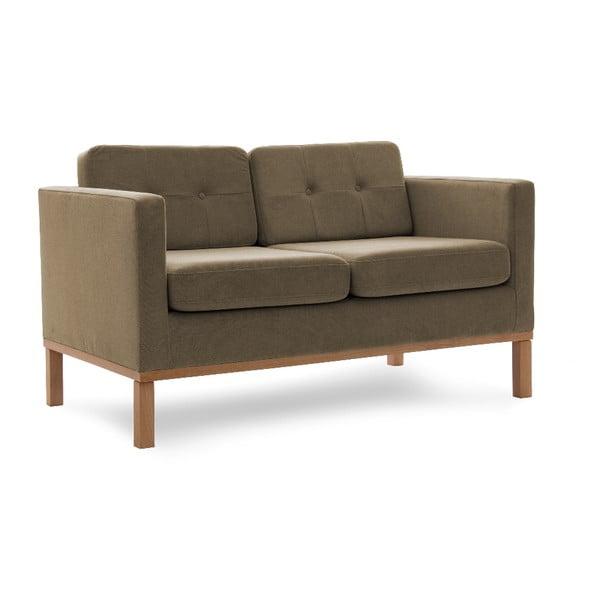 Sofa dwuosobowa VIVONITA Jonan Light Brown, naturalne nogi