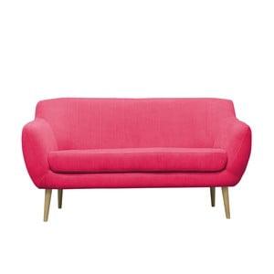 Różowa sofa trzyosobowa Mazzini Sofas Sardaigne