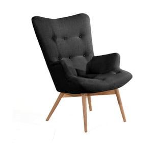 Czarny fotel Max Winzer Aiko