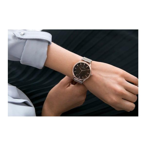 Zegarek damski z paskiem w srebrnym kolorze ze stali nierdzewnej Frederic Graff Lartio