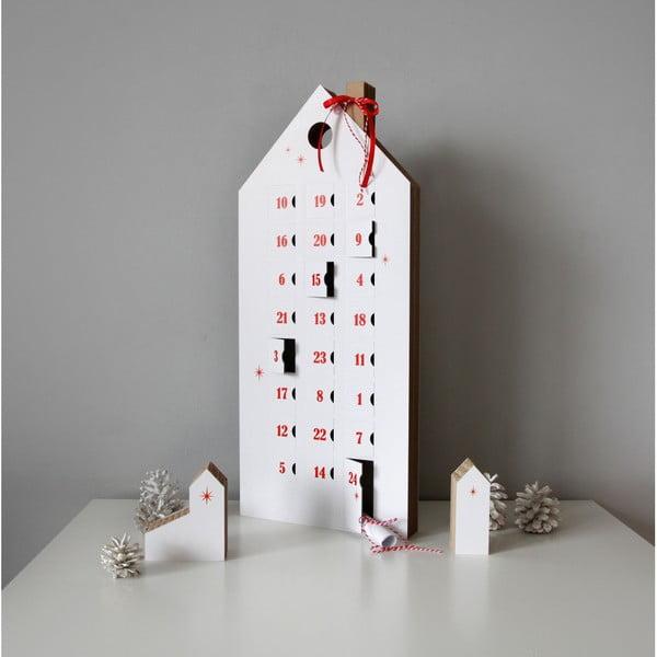 Kalendarz adwentowy z czerwonymi szczegółami Unlimited Design for kids