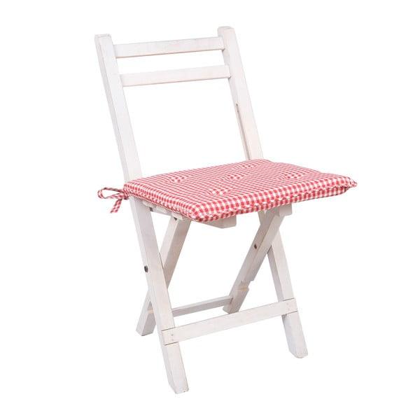 Czerwona poduszka na krzesło Clayre & Eef, 40x40 cm