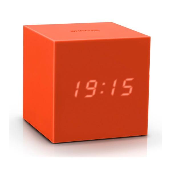 Pomarańczowy budzik LED Gingko Gravitry Cube